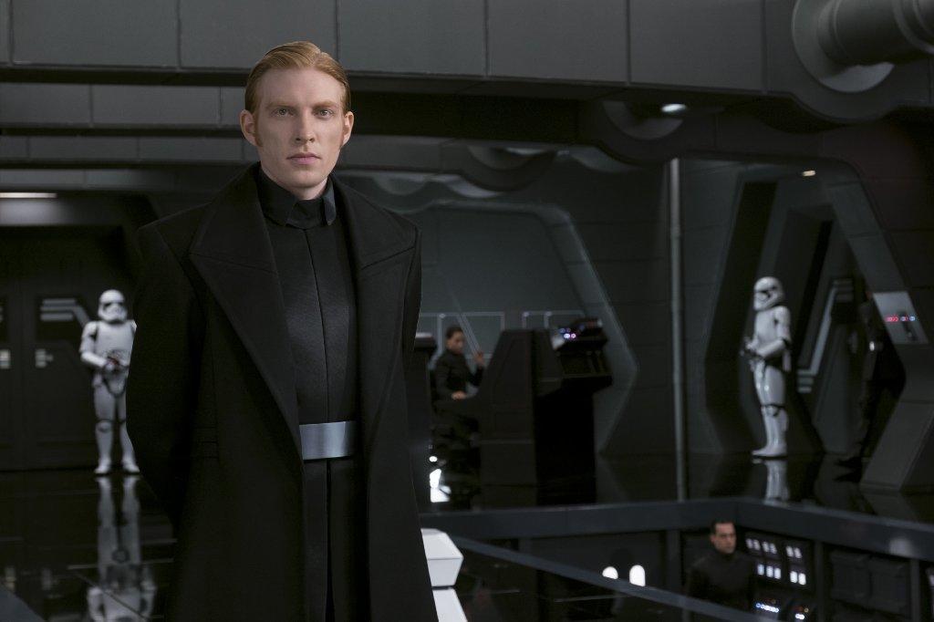 """General Hux (Domhnall Gleeson) in """"Star Wars: The Last Jedi."""" (David James / Lucasfilm Ltd.)"""