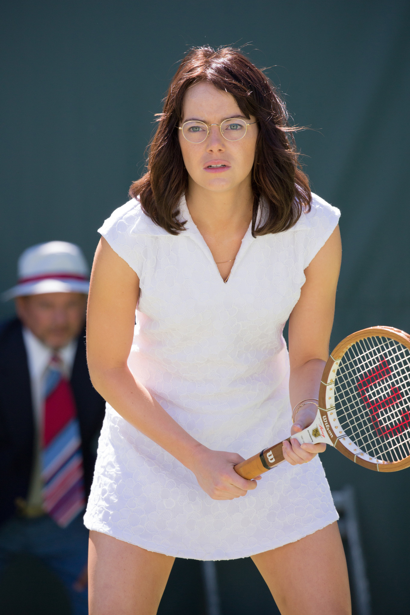 "Emma Stone as Billie Jean King in ""Battle of the Sexes,."""