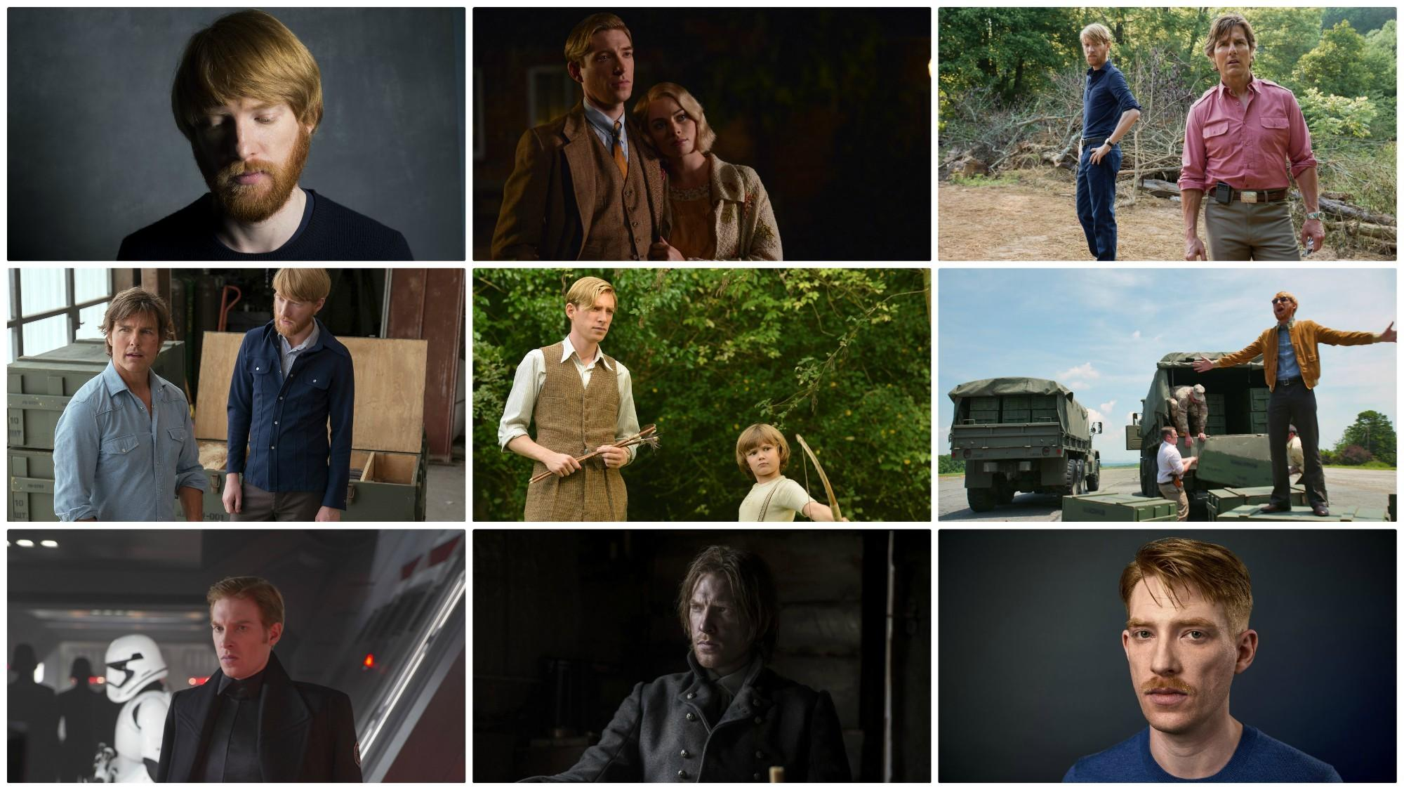 Photos from Domhnall Gleeson's film career. (Los Angeles Times / Fox Searchlight Pictures / Universal Pictures / Lucasfilm / Kimberley French / Twentieth Century Fox)