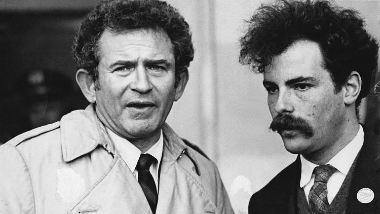 Jerry Rubin (right) with Norman Mailer. (Fantagraphics Books, Inc.)