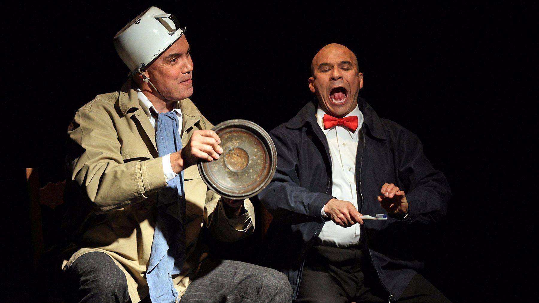 """Jesús Castaños-Chima, left, and Tony Duran in """"La Razón Blindada."""""""