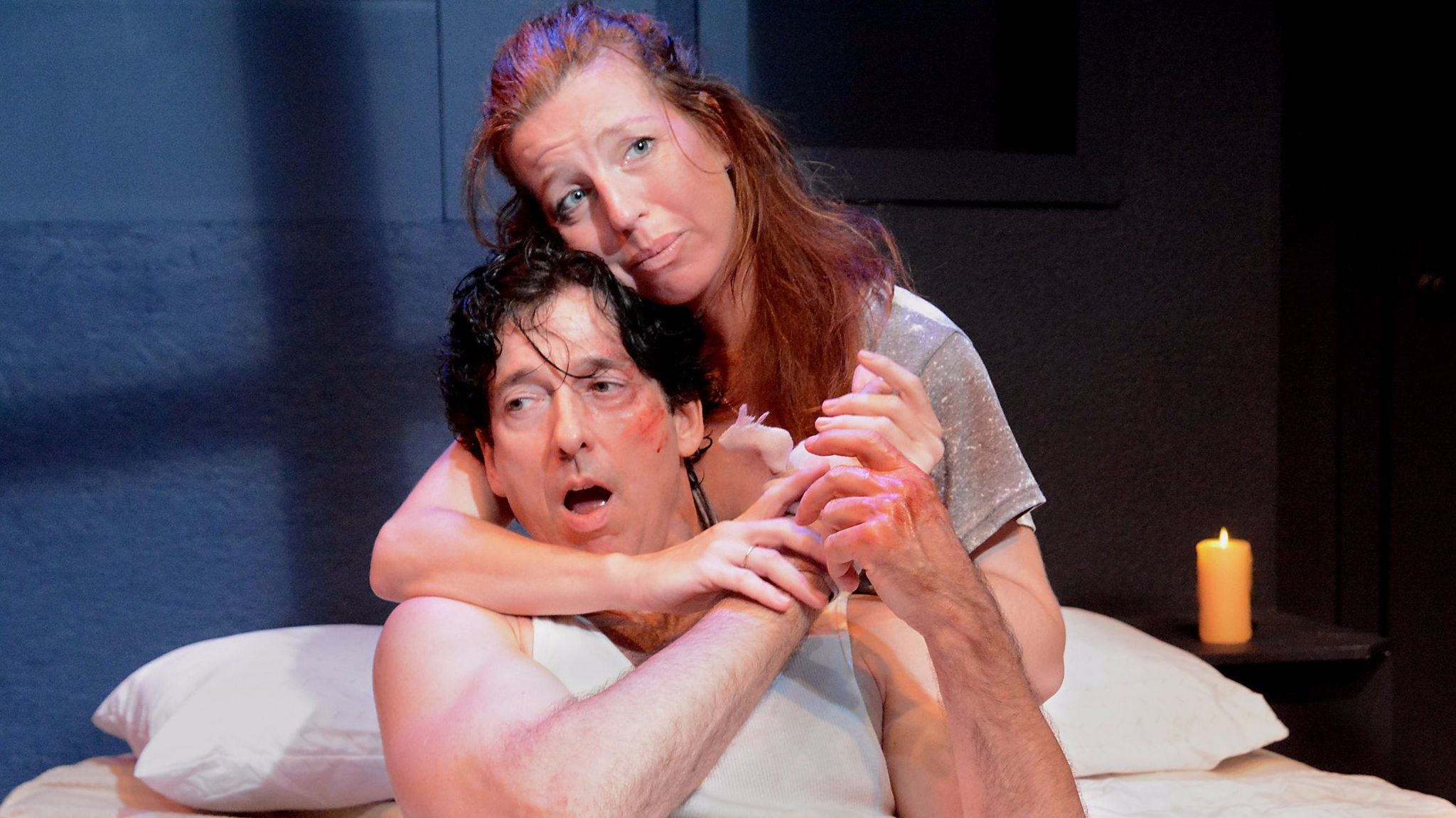 """Tanna Frederick and Robert Standley in """"Danny and the Deep Blue Sea."""""""
