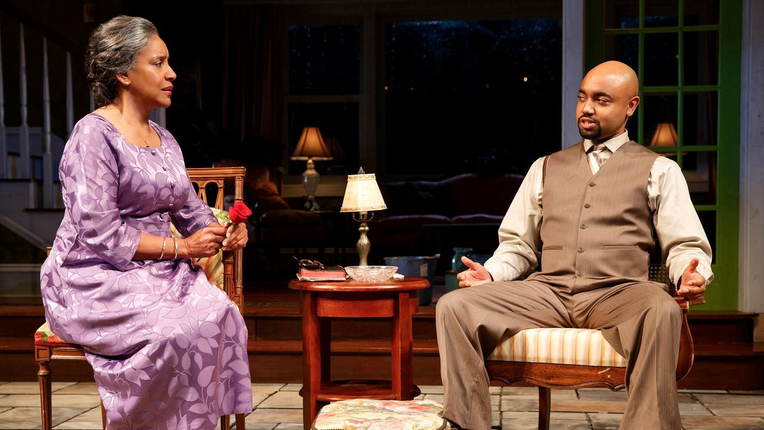 "Phylicia Rashad, pictured here with Francois Battiste, will reprise her role in the Tarell Alvin McCraney drama ""Head of Passes,"" coming to the Mark Taper Forum."