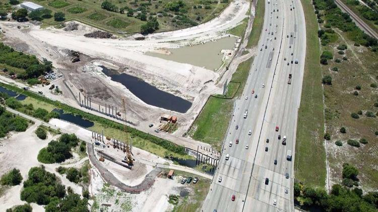 This is what I-95 looked like as the Spanish River Boulevard interchange project began