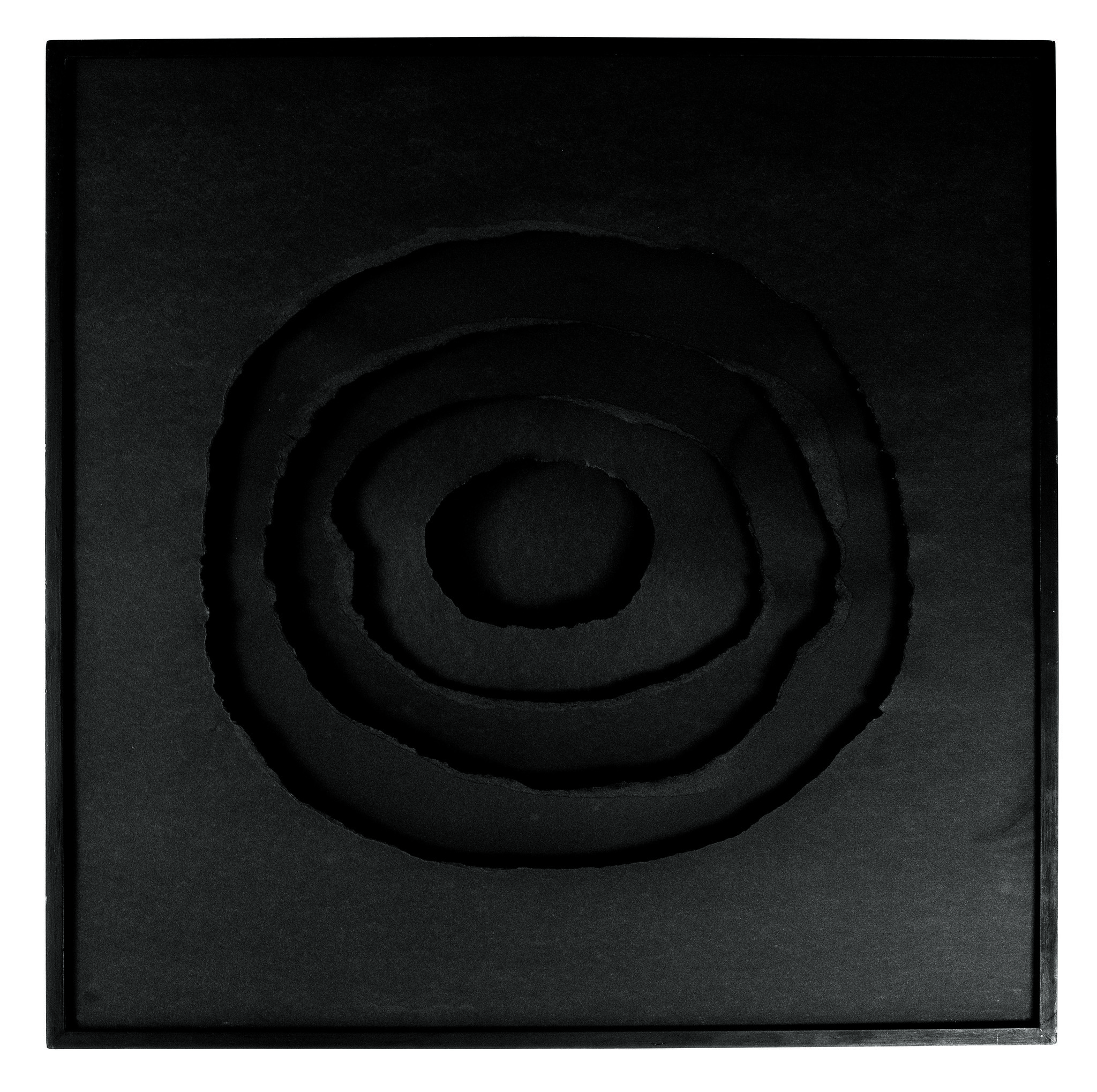 "Anna Maria Maiolino, ""Black Hole,"" 1974, torn paper."