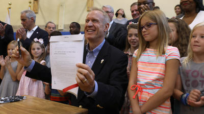 Rauner win on schools bill comes at a price