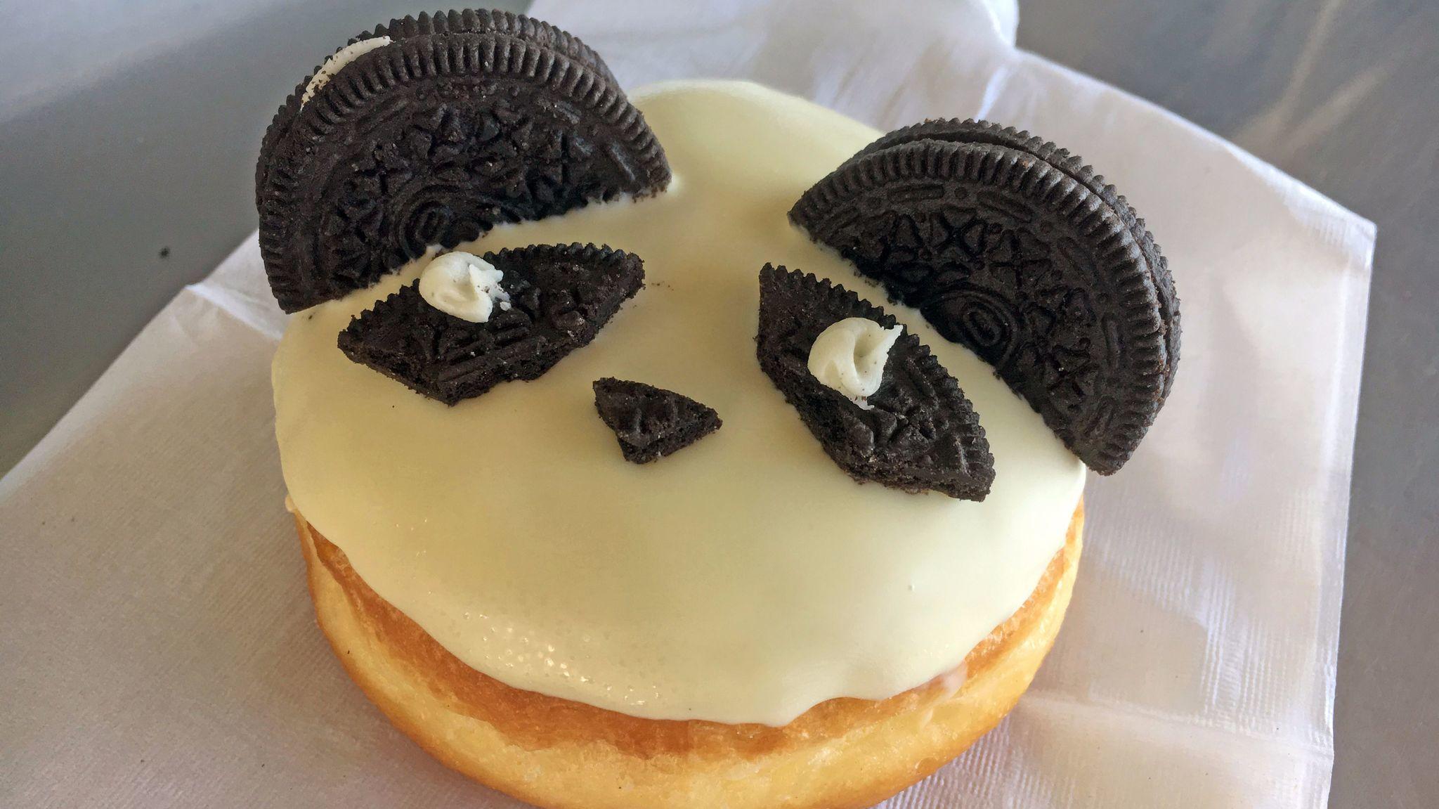 Panda doughnut from California Donuts.