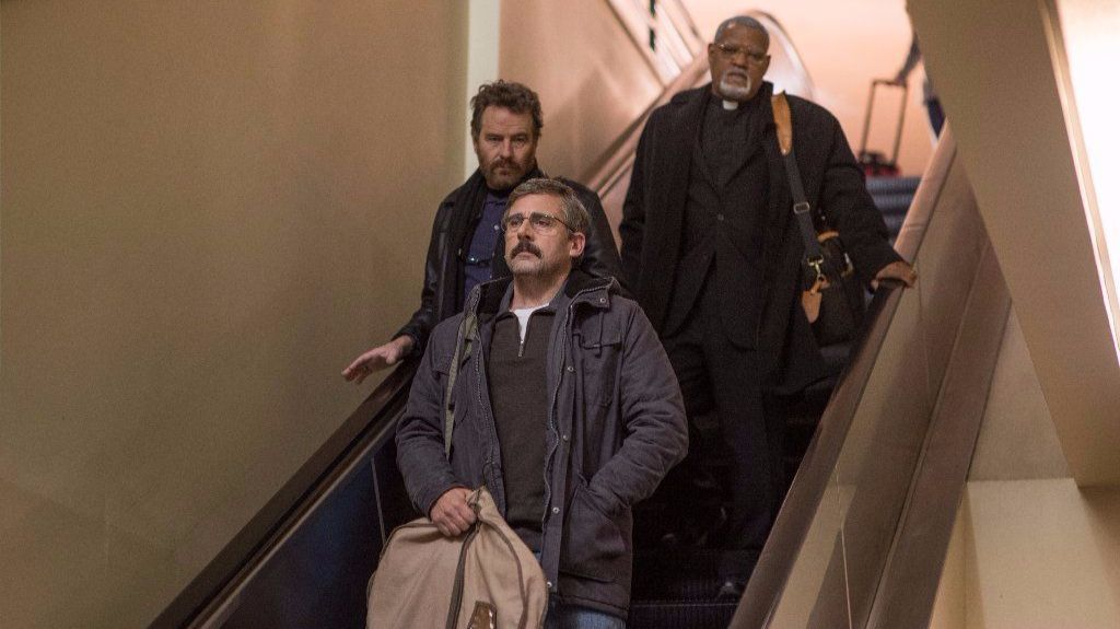 """In 2003, 30 years after they served together in the Vietnam War, former Navy Corps medic Richard """"Doc"""" Shepherd (Steve Carell) re-unites with ex-Marines Sal (Bryan Cranston) and Mueller (Laurence Fishburne) on a different type of mission."""