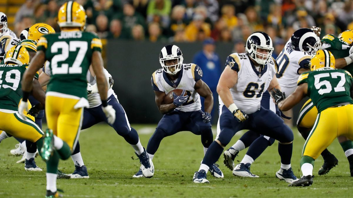 Rams rookie running back Justin Davis makes his case for ...