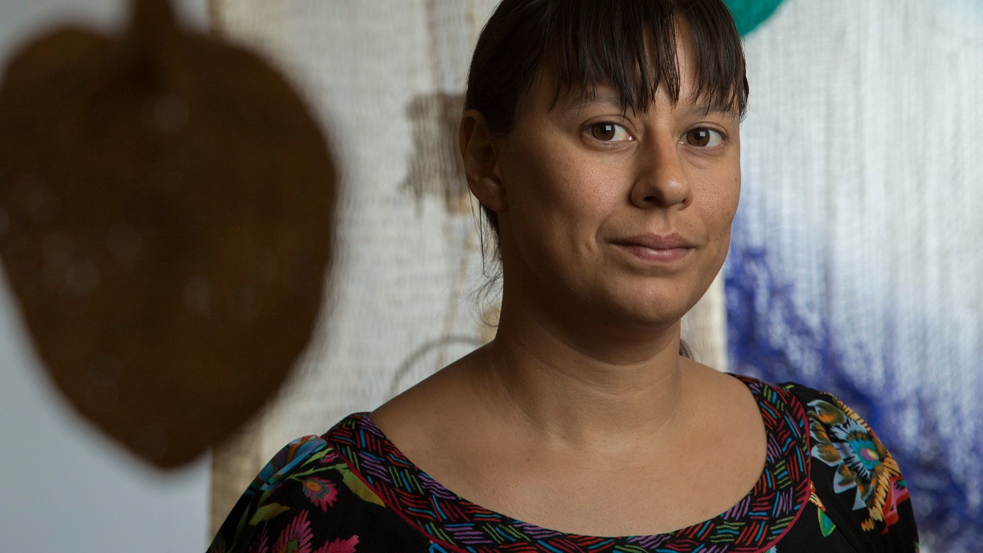 """Artist Carolina Caycedo, whose work on river dams is on view in """"A Univeral History of Infamy"""" at LACMA."""