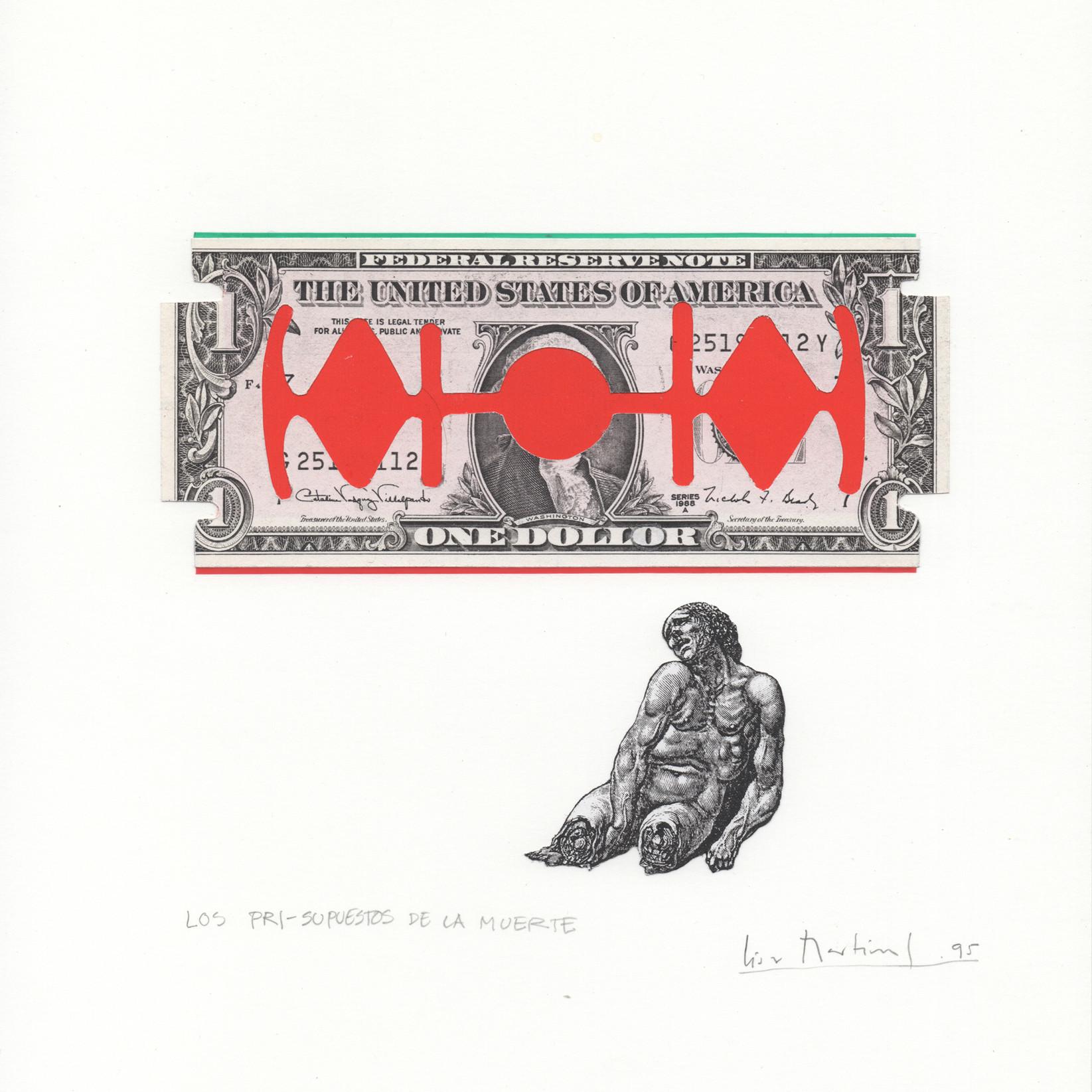"""Los PRI-supuestos de la muerte,"" 1996, by César Martínez, at the Armory Center — a work that took on the Mexican ruling party."