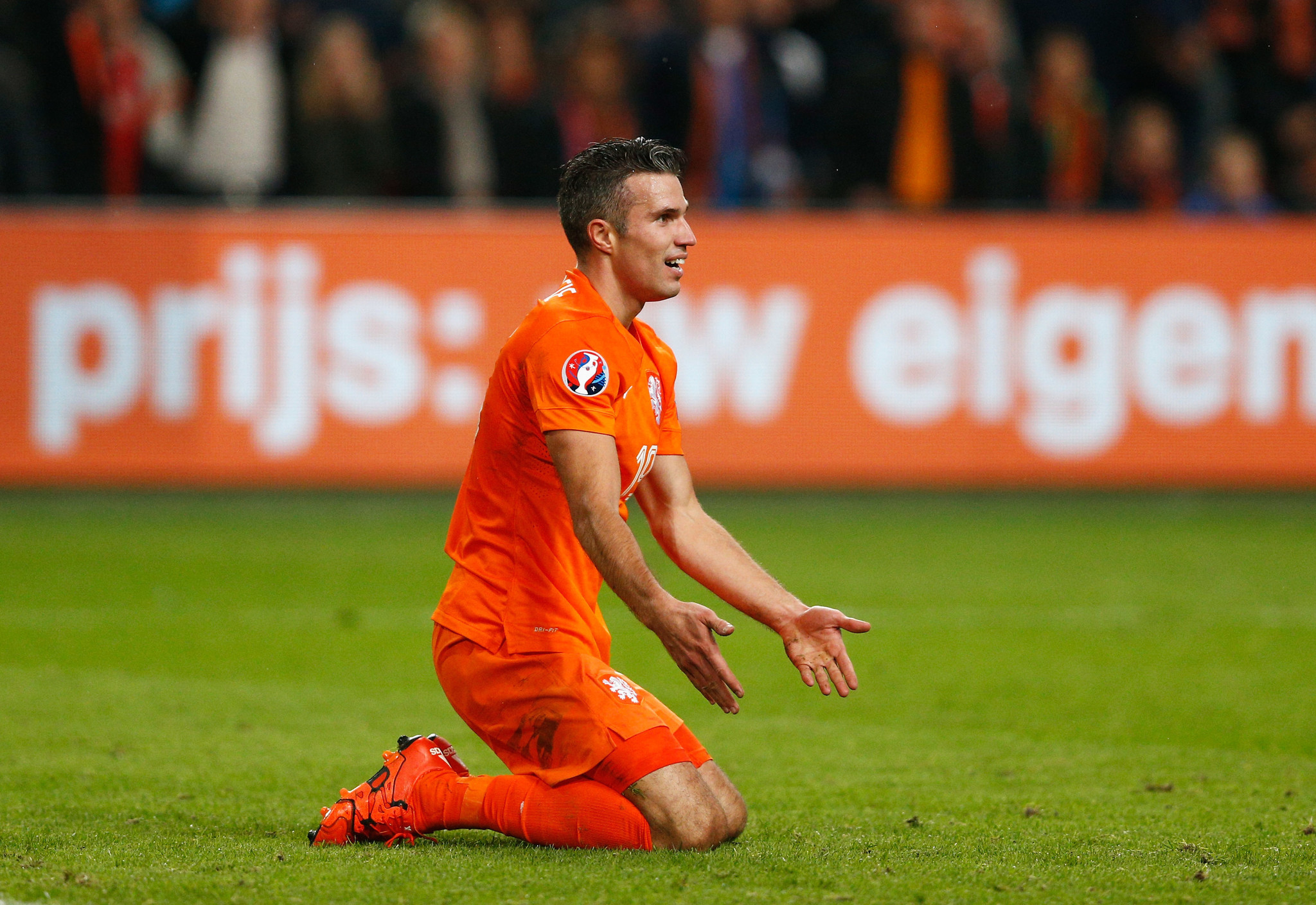 Robin van Persie out of Netherlands squad with knee injury