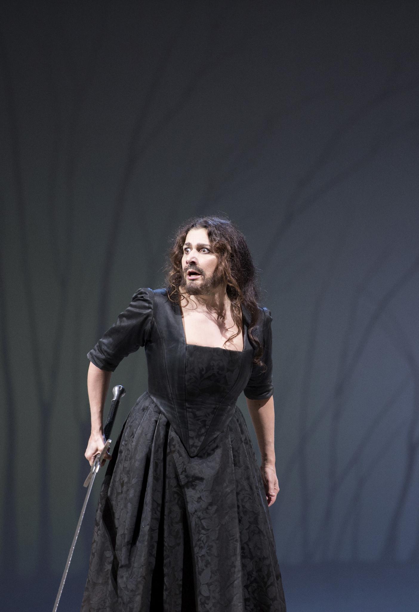 Cecilia Bartoli as Ariodante in Christof Loy's production of Handel's 'Ariodante' at the Salzburg Festival.