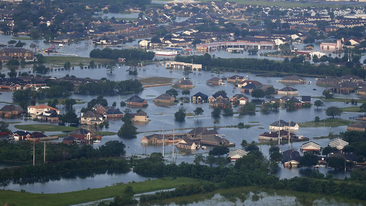 Aerial views of flooding in Texas