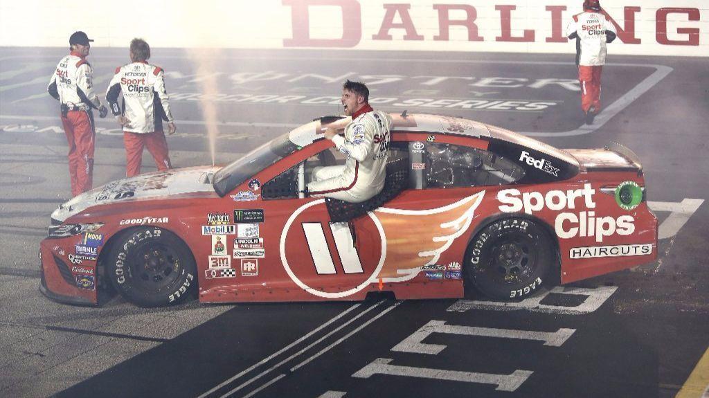 NASCAR: Denny Hamlin recovers to win the Southern 500 - LA ...