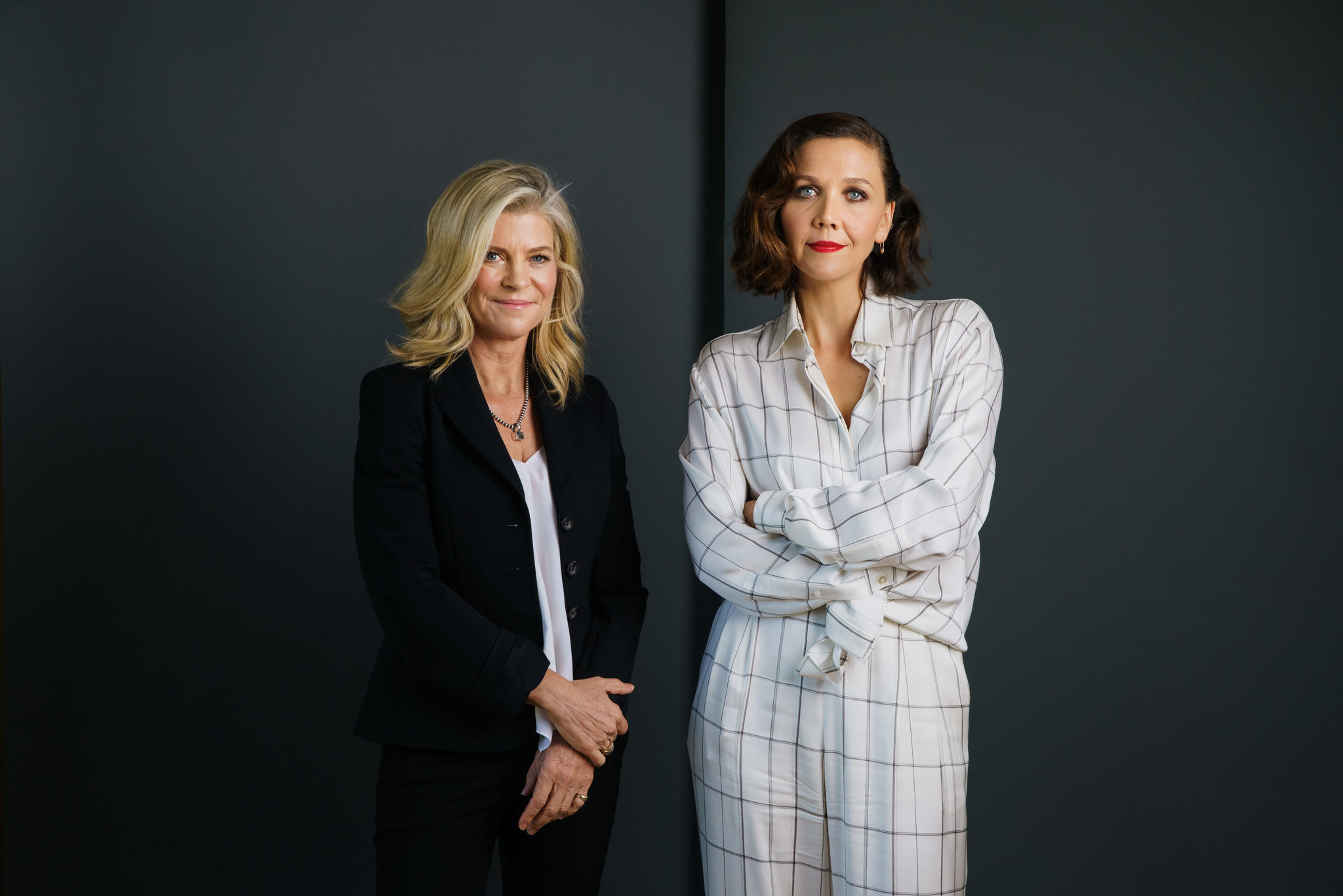 Portrait of Maggie Gyllenhaal and Michelle MacLaren. (Marcus Yam / Los Angeles Times)