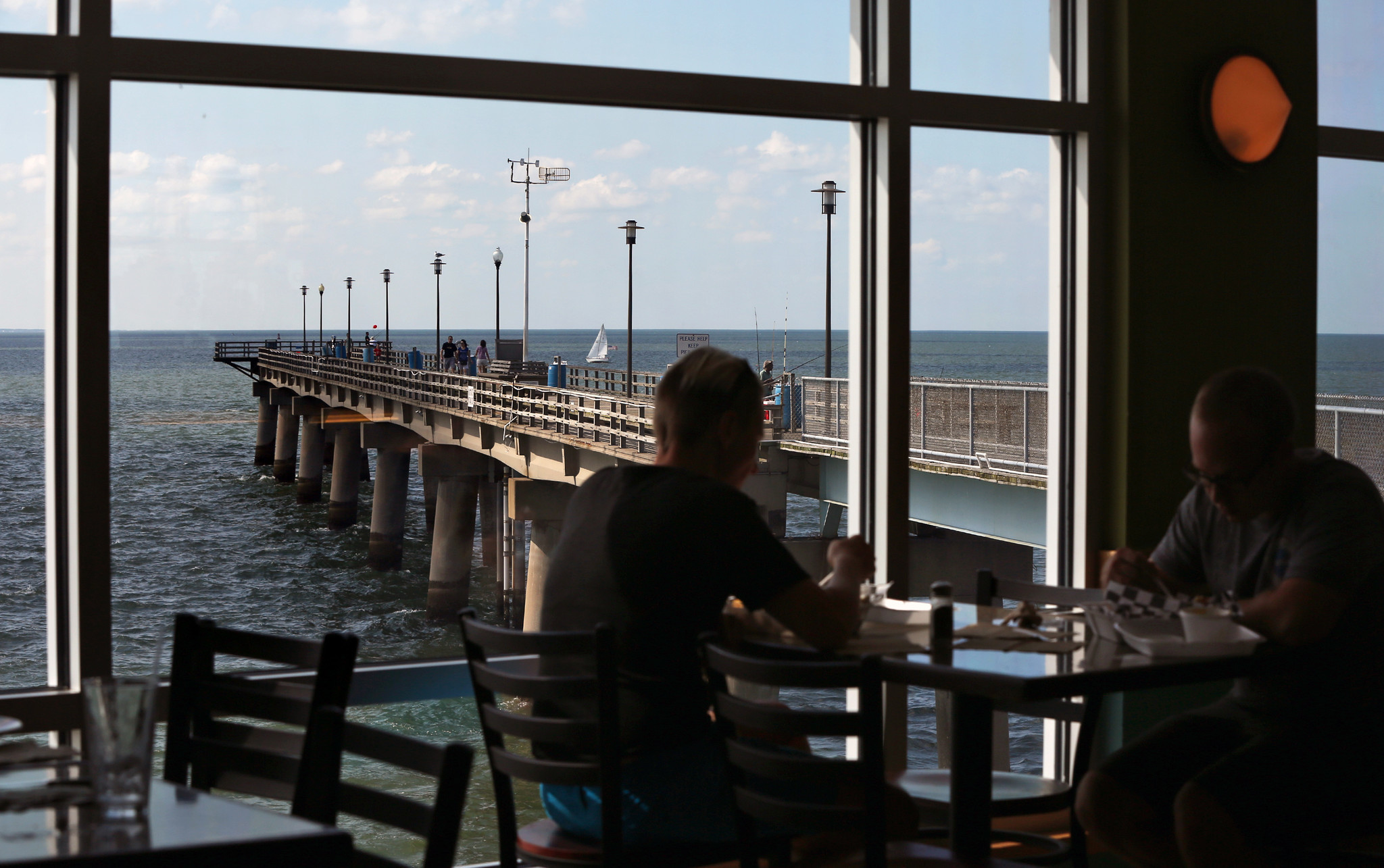 Chesapeake Bay Bridge Tunnel Restaurant Gift Shop And Pier Set To