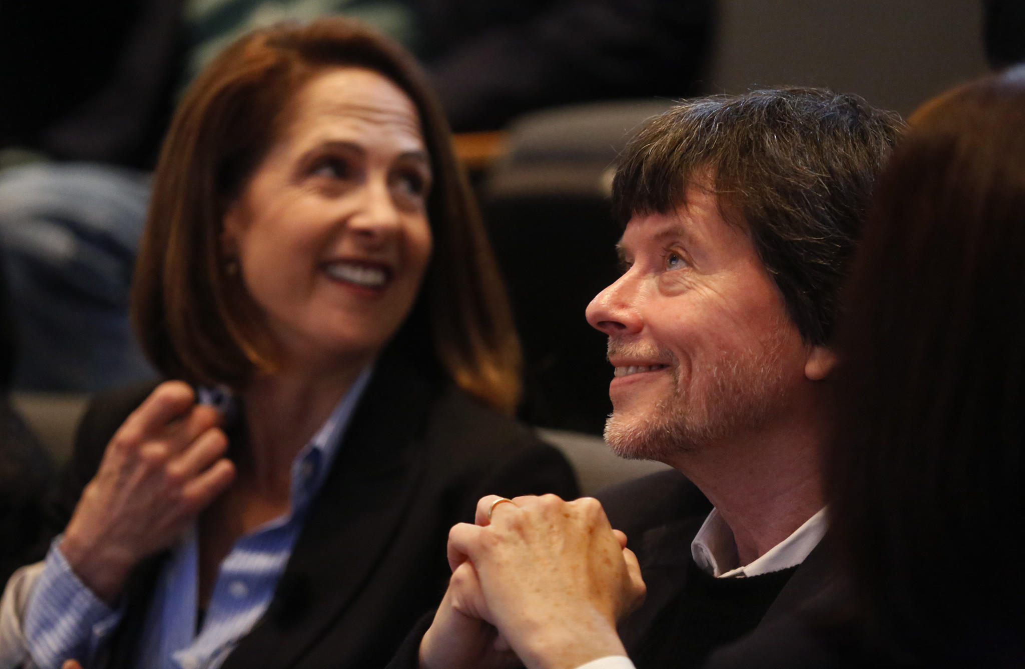 "Filmmakers Lynn Novick and Ken Burns screened segments of their new 18-hour film, ""The Vietnam War,"" at UC Irvine in May. (Genaro Molina / Los Angeles Times)"