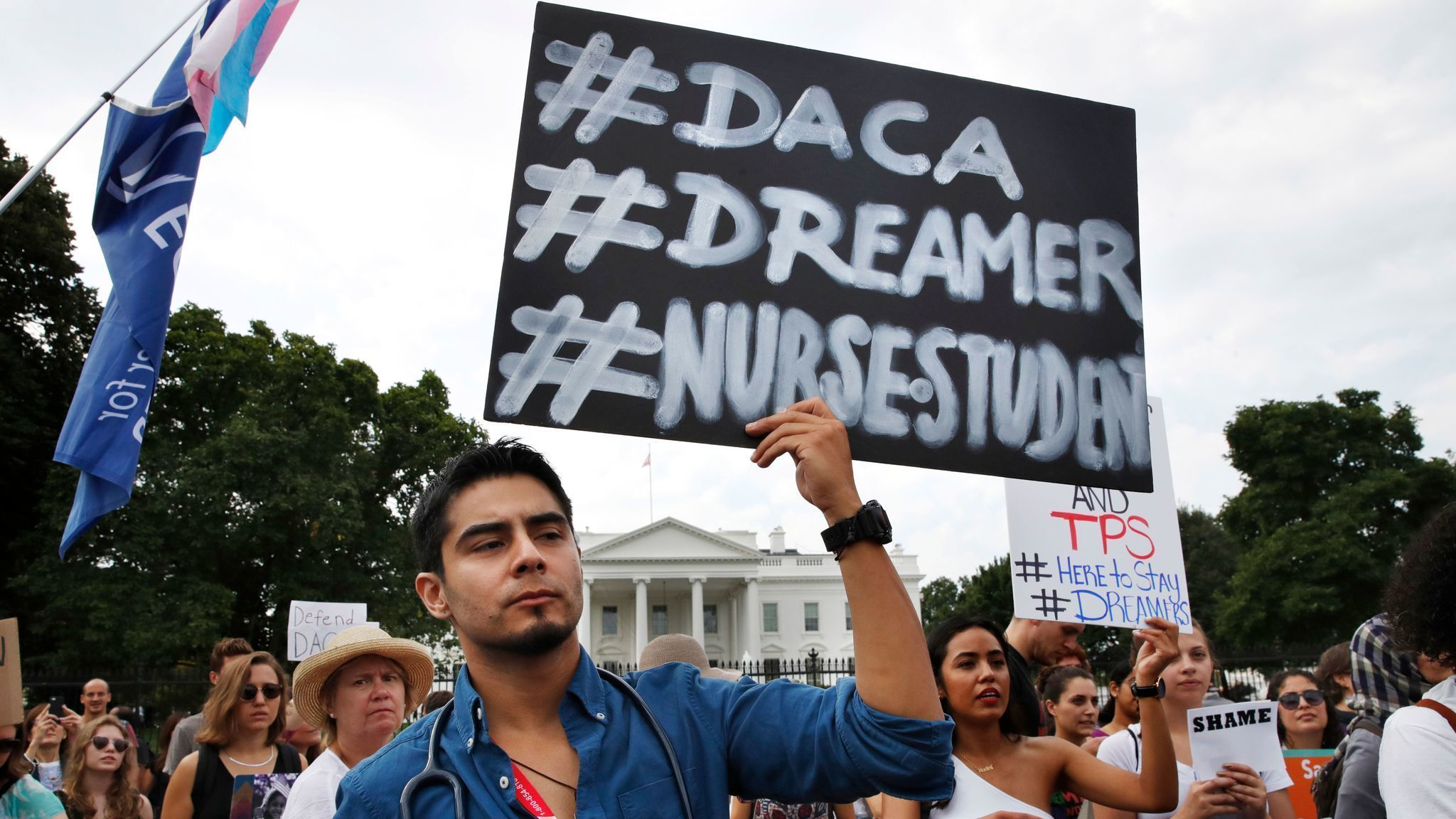 Image result for photos of dreamers marching for daca today