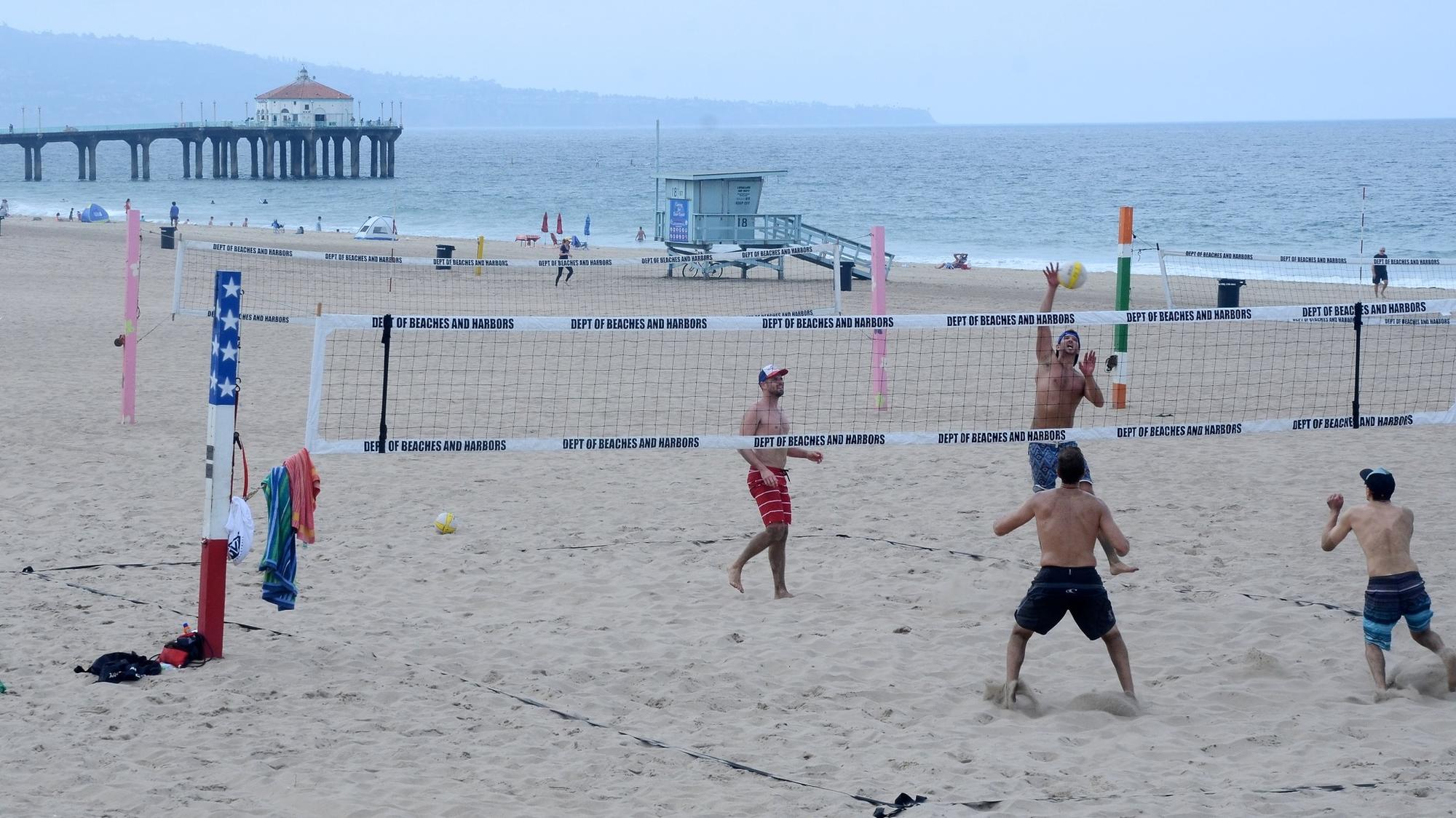 Casual volleyball, just north of the pier, Manhattan Beach