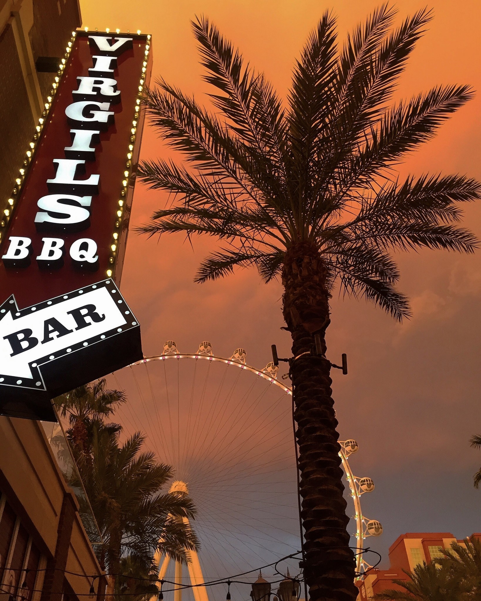 Virgil's Real Barbecue at the Linq Promenade will be tempting sports fans with barbecued pork from a freshly-roasted whole pig.