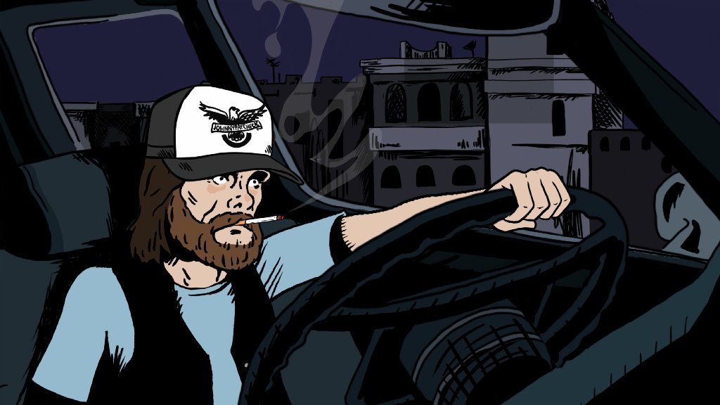 "Johnny Paycheck in ""Mike Judge Presents: Tales From the Tour Bus,"" which chronicles the tales of some of country music's most legendary artists. The series begins its eight-episode season Sept. 22"