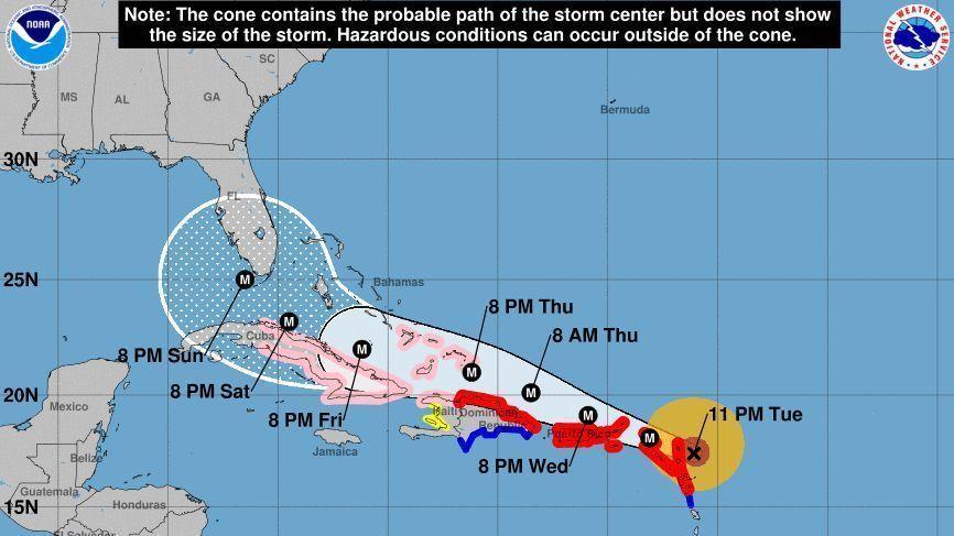 Hurricane Irma Slams Into Barbuda Landfall In US Depends On - Map of us and bermuda