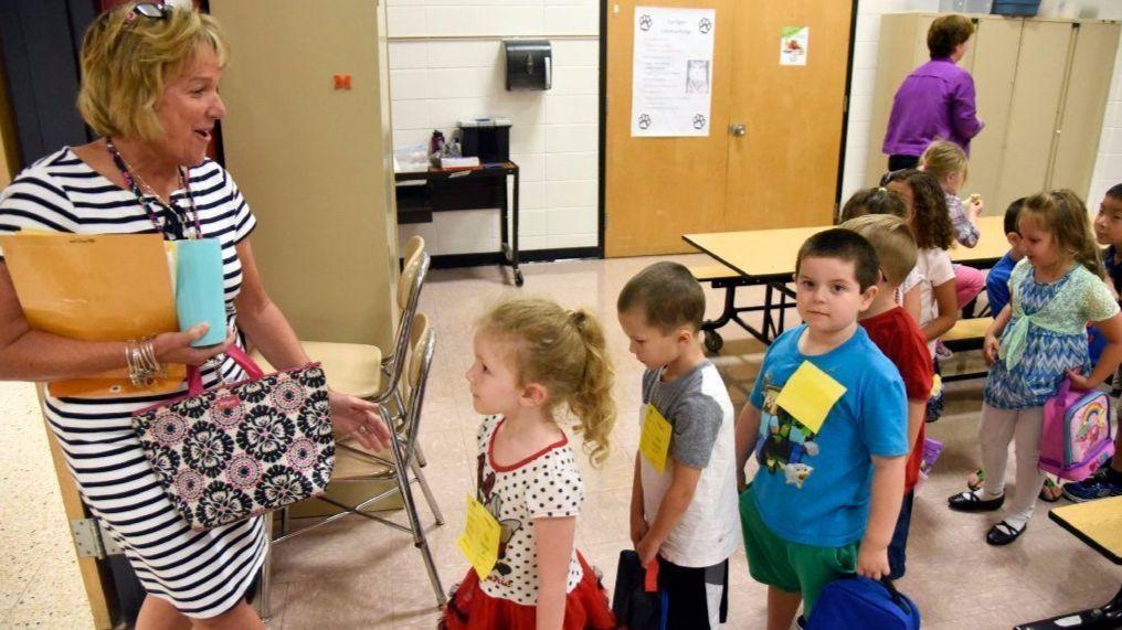 Spring Garden Elementary School Students Get Back Into The School 39 S Routine Baltimore Sun