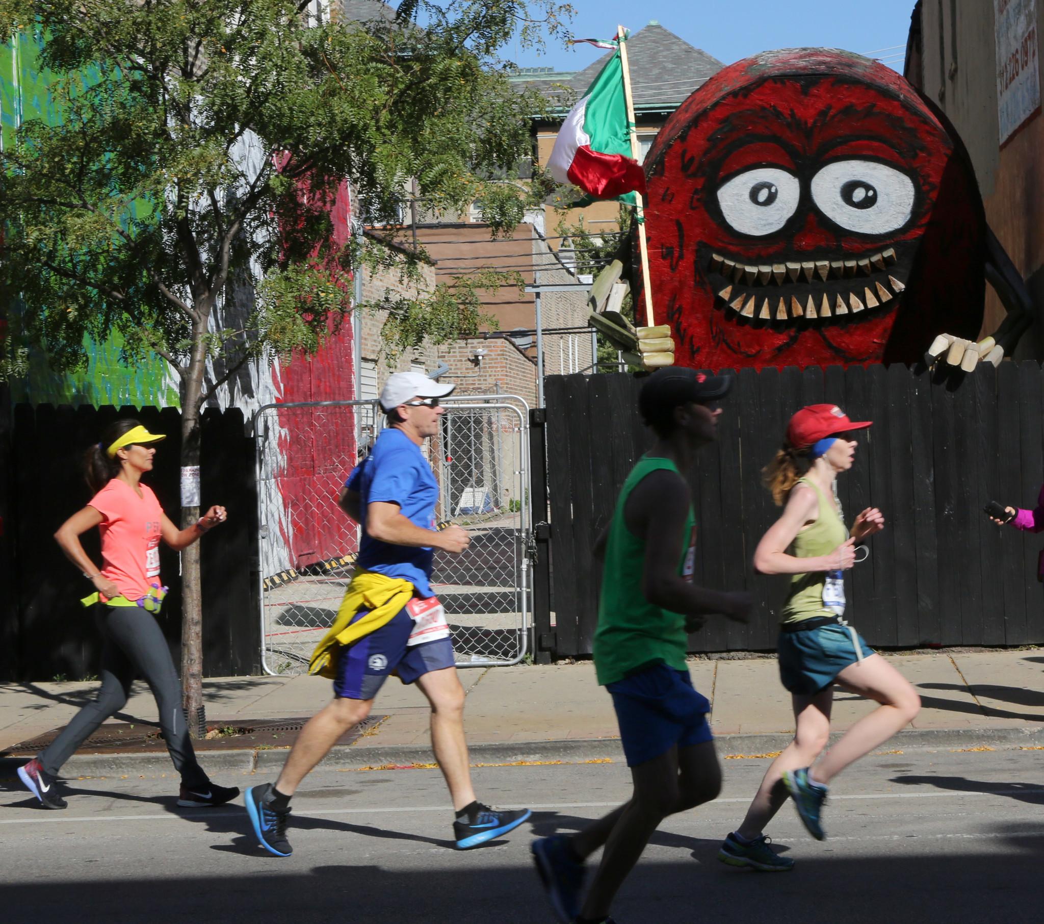 Chicago Marathon map A journey through neighborhoods Chicago