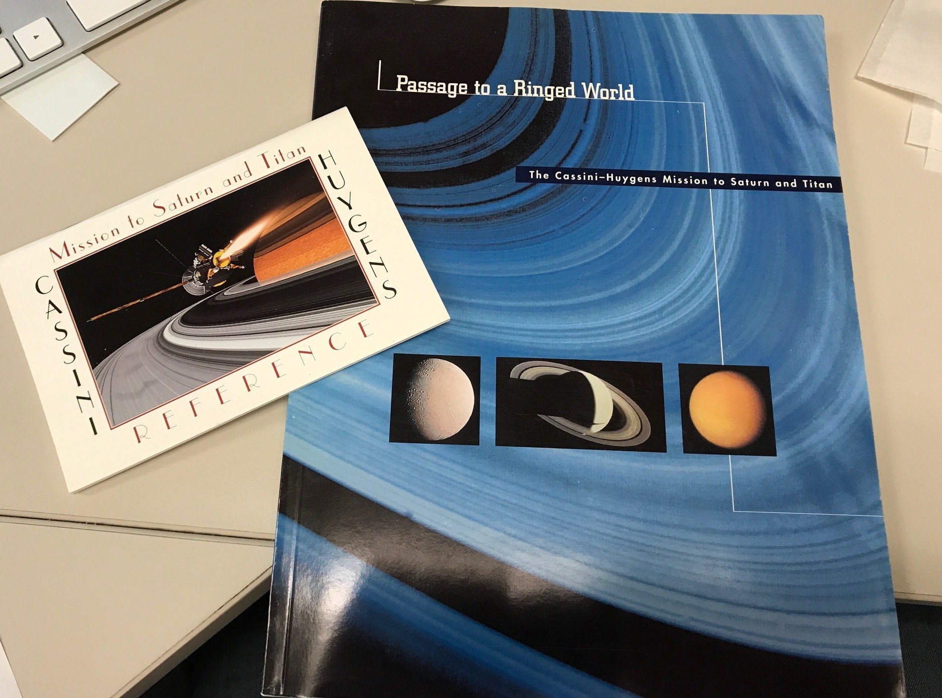 Background books about the Cassini-Huygens mission and what was known about Saturn at the time of launch, in 1997.