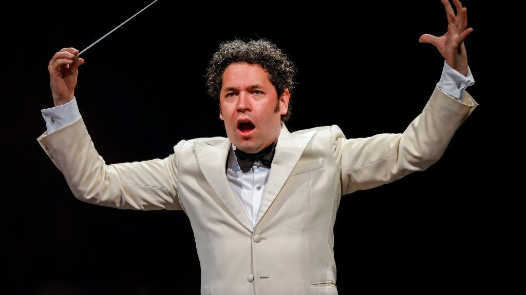 "Conductor Gustavo Dudamel leads ""The Planets, "" with the L.A. Philharmonic, at the Hollywood Bowl, in Los Angeles, CA, Aug. 22, 2017."