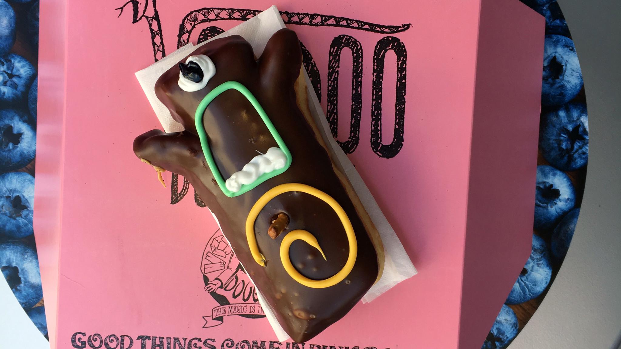 The Voodoo doughnut from Voodoo Doughnuts.