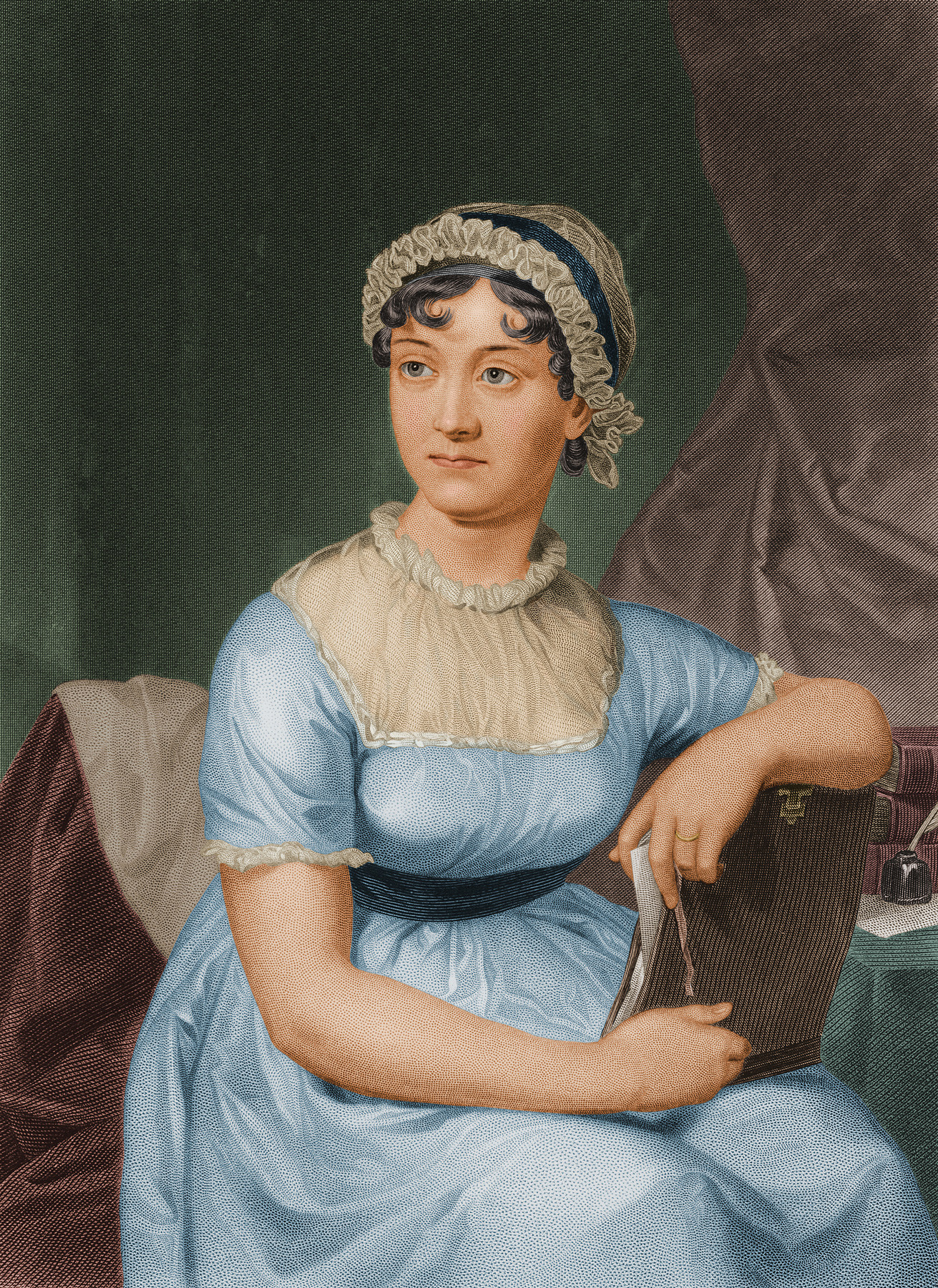 English author Jane Austen circa 1790.