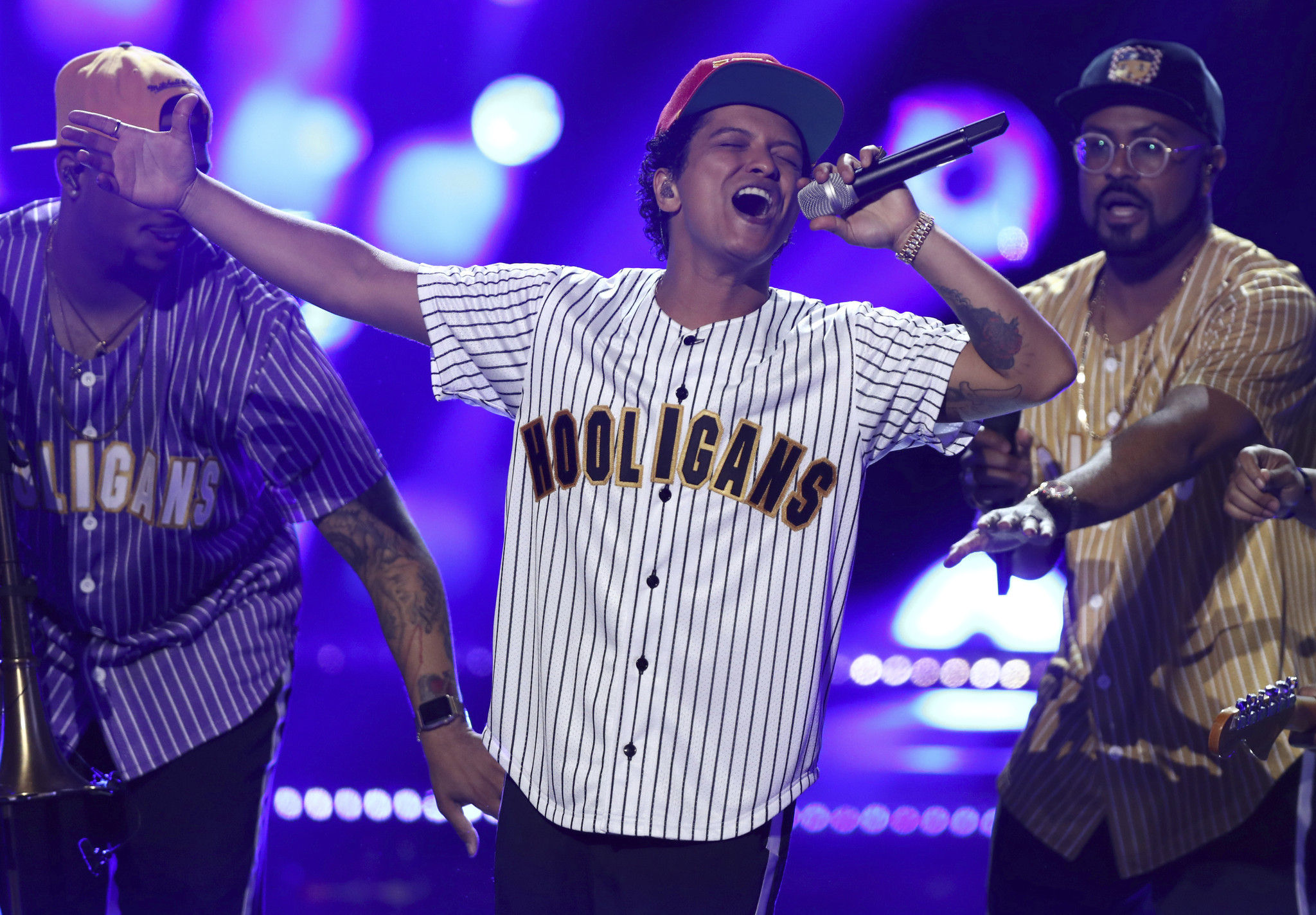 Bruno Mars performs.