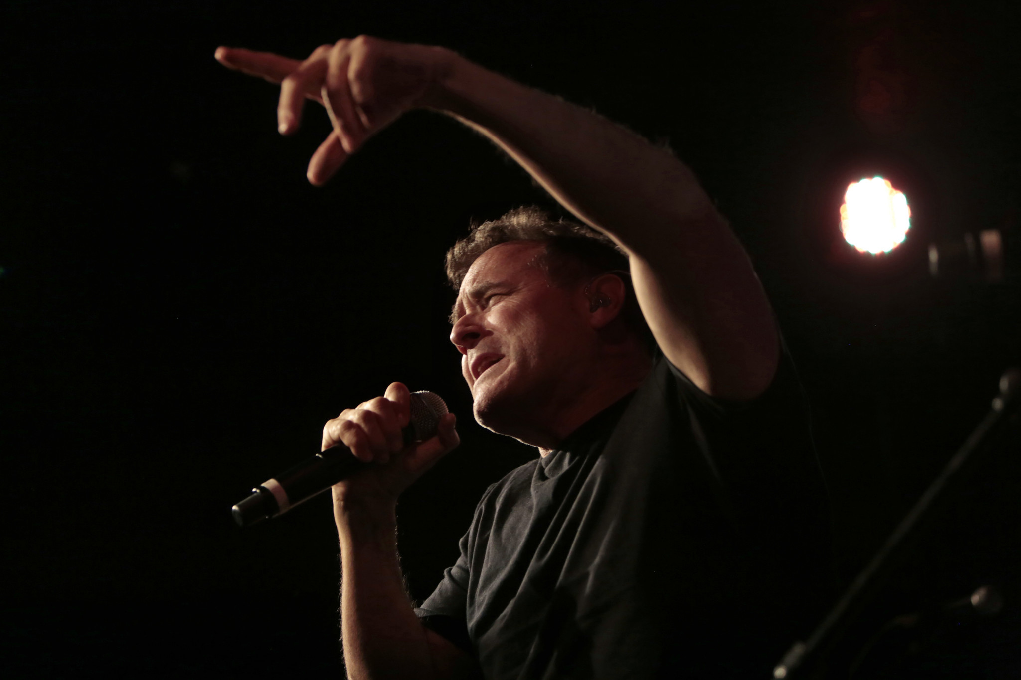 Johnny Clegg performs.