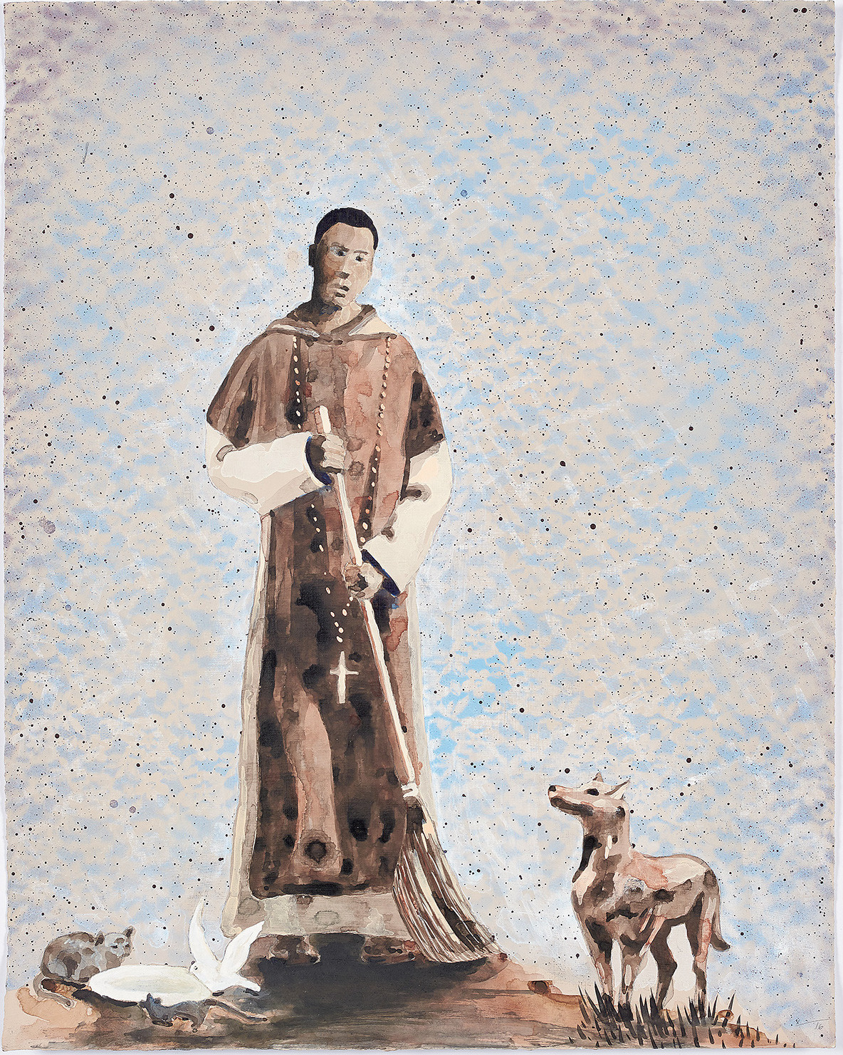 """""""Reflexiones Sobre La Muerte (San Martin de Porres),"""" 2016, by Lorenzo Hurtado Segovia at CB1 Gallery."""