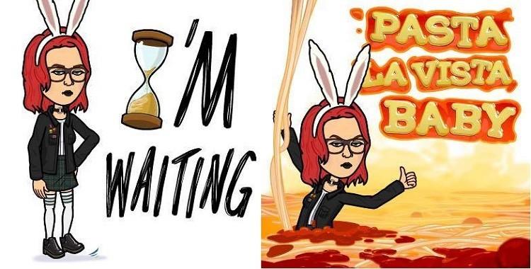 Bitmojis showing Jasmine Roashan.