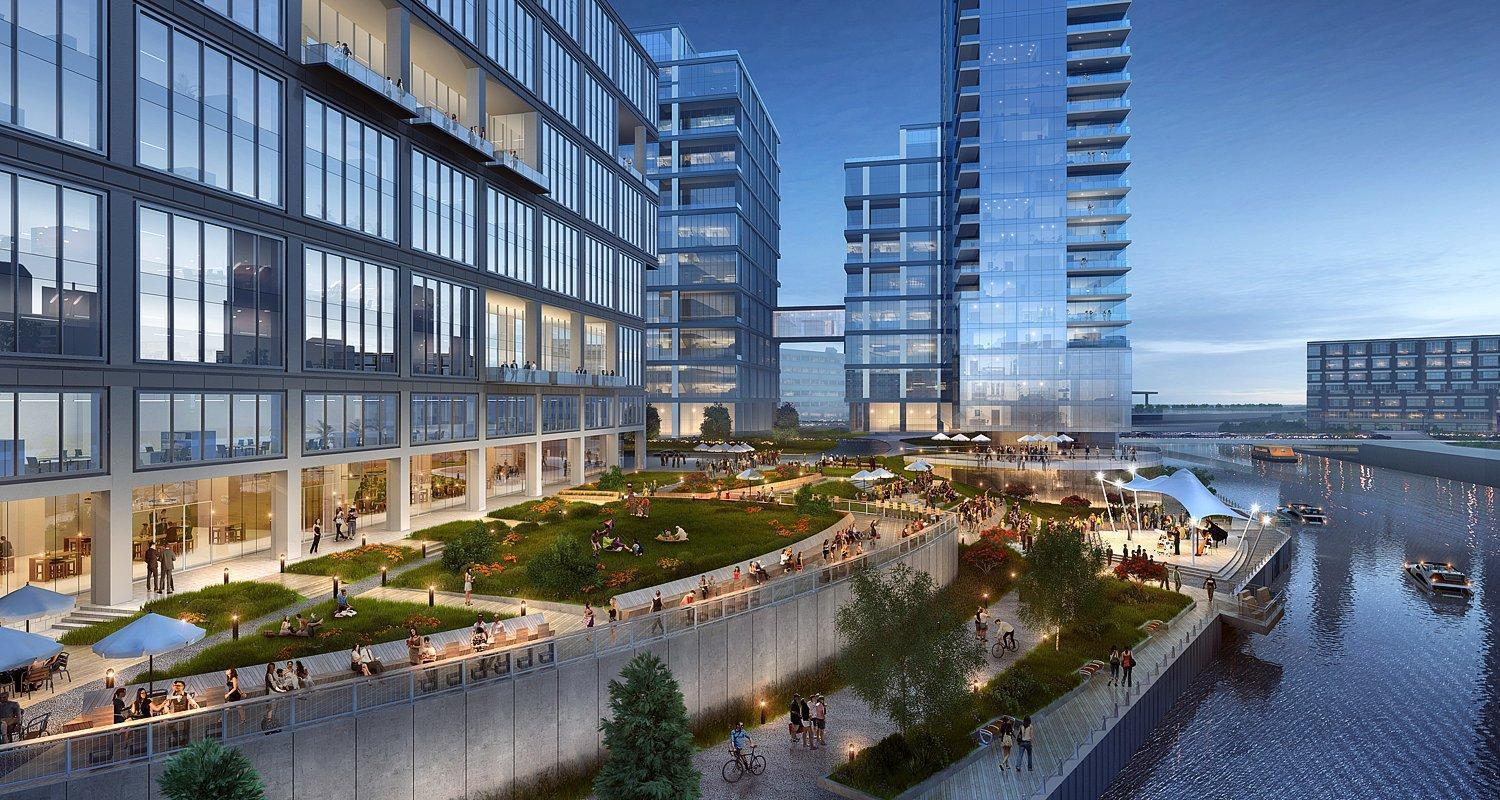 Planned Development Along Chicago River S North Branch