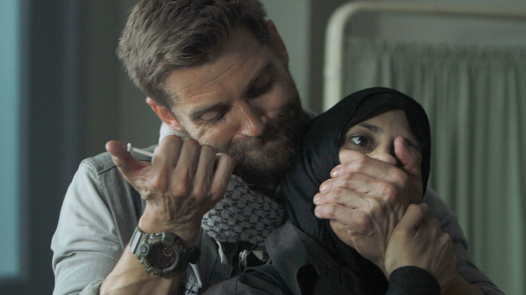 "Mike Vogel and Shereen Martin on ""The Brave."""