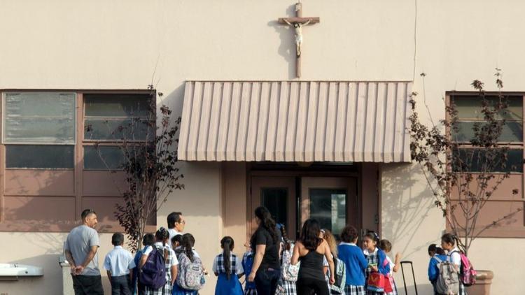 St. John Chrysostom Catholic School in Inglewood (Irfan Khan / Los Angeles Times)