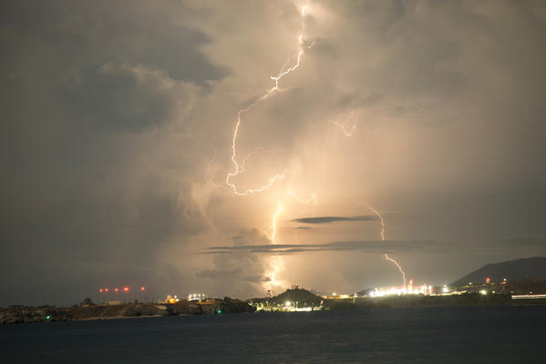 Lightning flashes over the Naval Station Guantanamo Bay as Hurricane Irma approaches. (Specialist 1st Class John Philip Wagner Jr. / U.S. Navy)