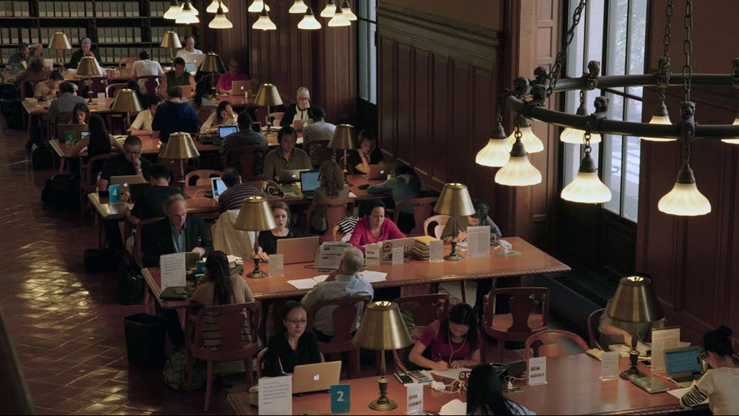 "A scene from the movie ""Ex Libris — The New York Public Library."""
