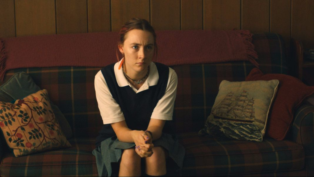 "Saoirse Ronan in the movie ""Lady Bird."""