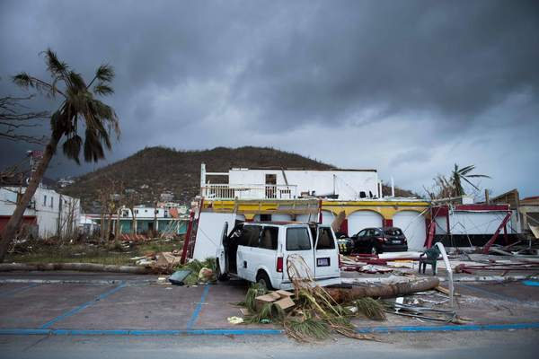 The City Of Marigot Lies In Ruins Sept. 9, 2017, After Hurricane Irma