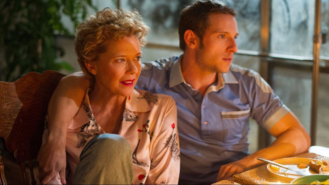 "Annette Bening and Jamie Bell in the movie ""Film Stars Don't Die in Liverpool."""