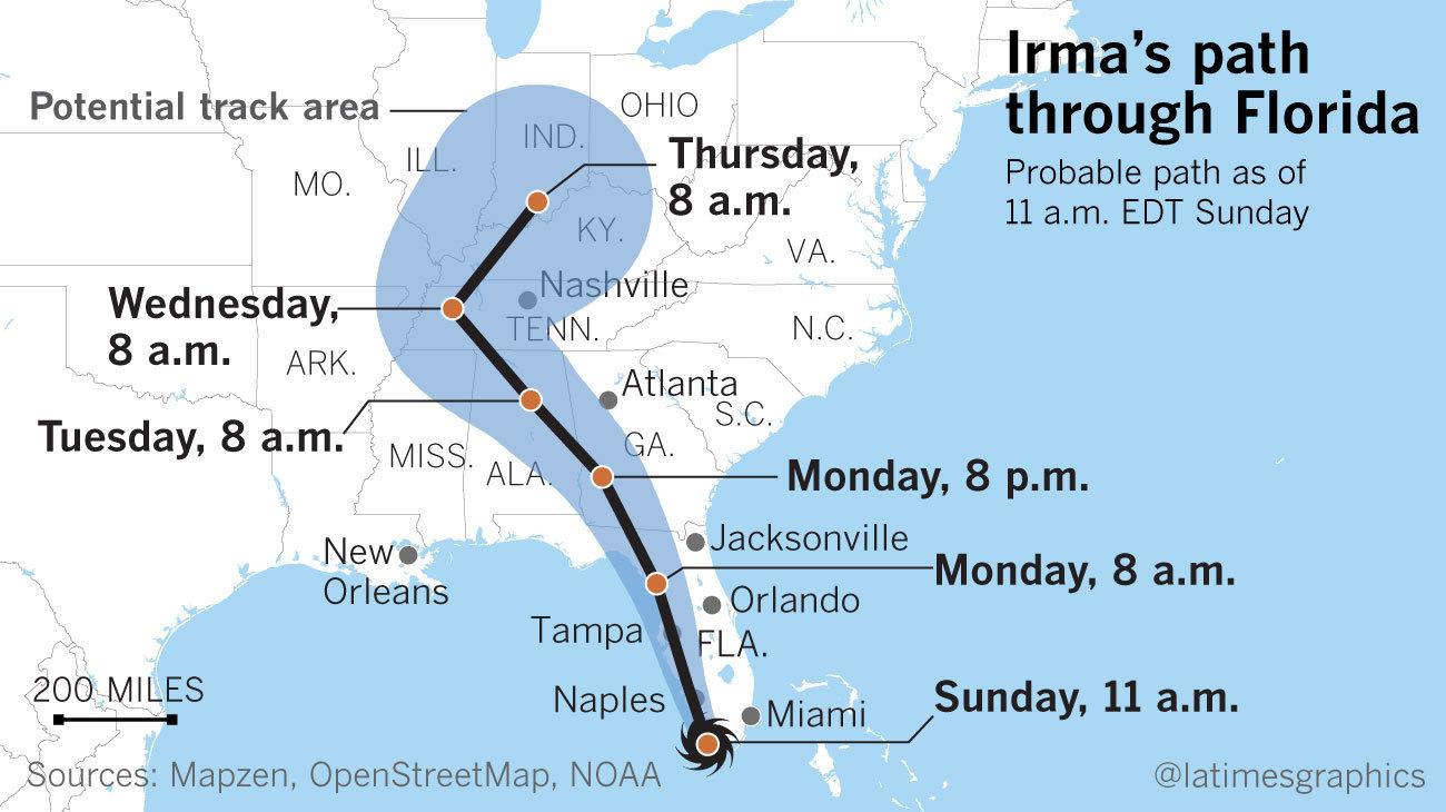 Hurricane Irma Live Updates Irma Brings Flooding Up