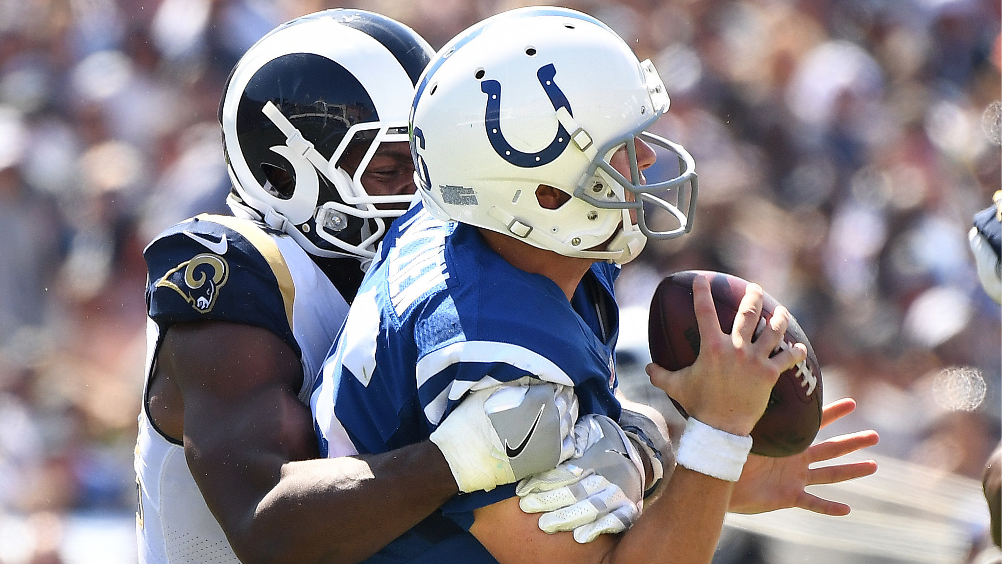 Rams lead Colts 10 3 after the first quarter LA Times