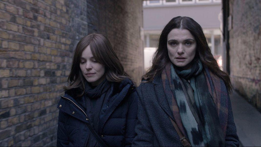 """Rachel McAdams, left, and Rachel Weisz in the movie """"Disobedience."""""""