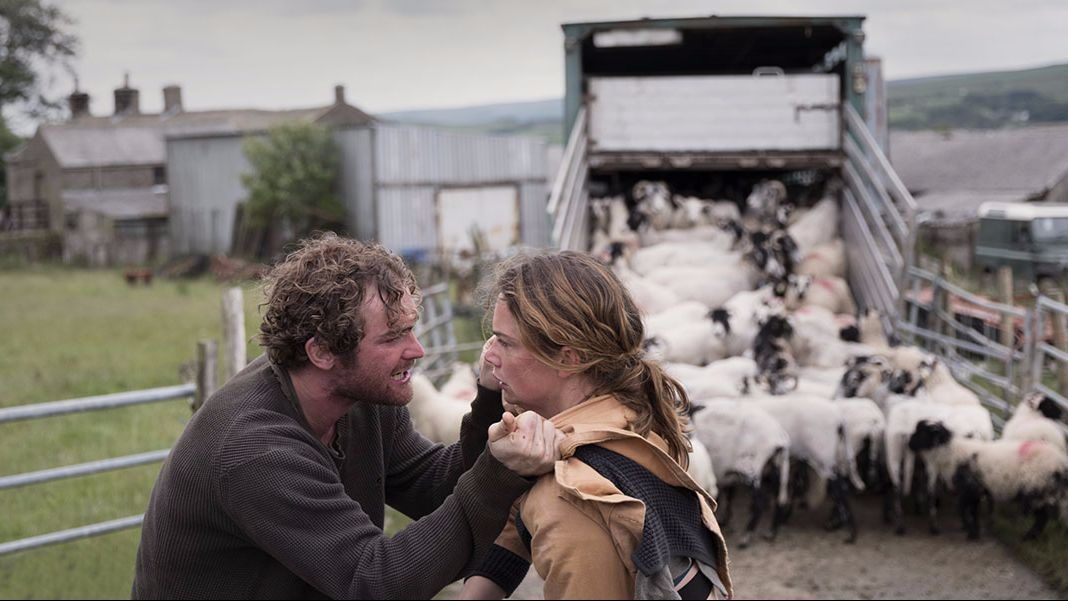 "Mark Stanley and Ruth Wilson in the movie ""Dark River."""