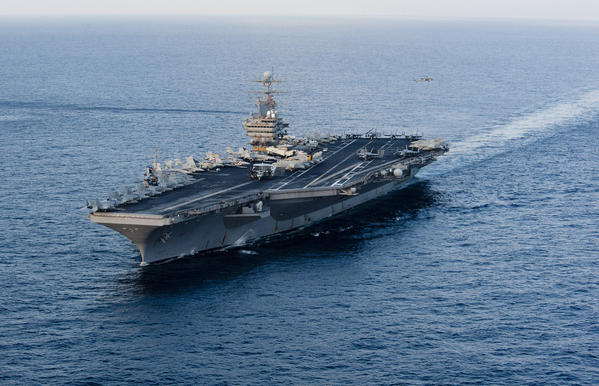 The U.S. aircraft carrier Abraham Lincoln in 2012, (U.S. Navy)
